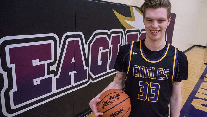 Matt Malcolm proudly wears the same No. 33 his mom wore as a women's basketball player at Notre Dame. But he is carving out his own legacy at Plymouth Christian Academy.