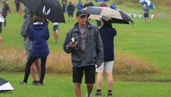Newark cross country coach Joe Contario.