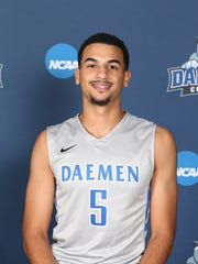 Notre Dame graduate Darius Garvin completed his junior season at Daemen College.