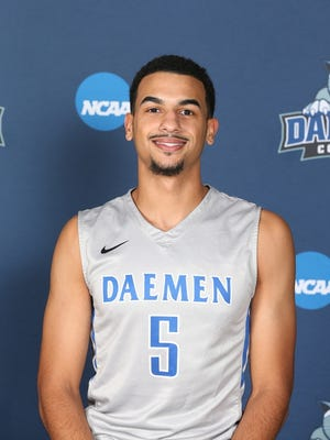 Notre Dame graduate Darius Garvin is a guard at Daemen College.