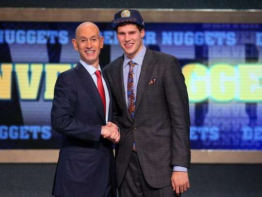 FILE -- Doug McDermott (Creighton) shakes hands with