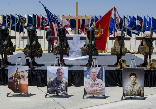 Photos of six Marines killed in a helicopter crash