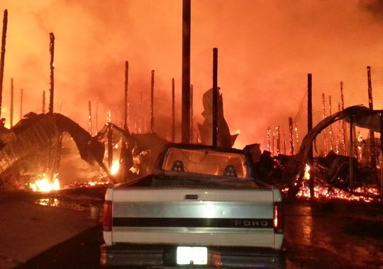 Fire crews valiantly attempted to save the full throttle saloon