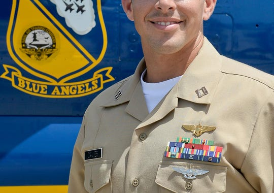Navy Lt. Tyler Davies, 33, of Kennesaw, Georgia, is