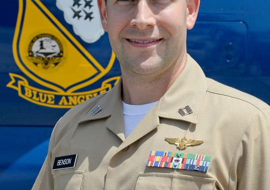 Navy Lt. Lance Benson, 32, of McPherson, Kansas, is