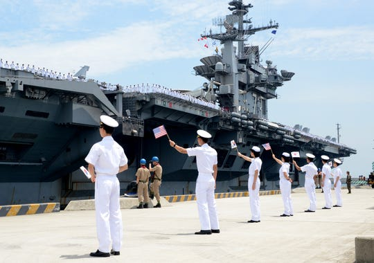 After seven years forward deployed in Japan, the carrier