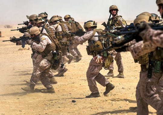 Marines with the 26th Marine Expeditionary Unit's maritime