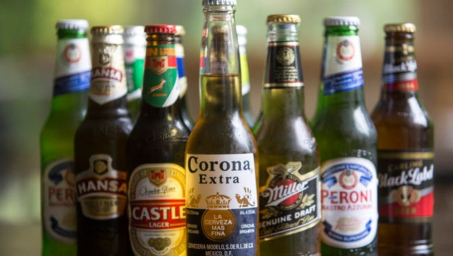 Anheuser-Busch InBev brands along with SABMiller branded beers.