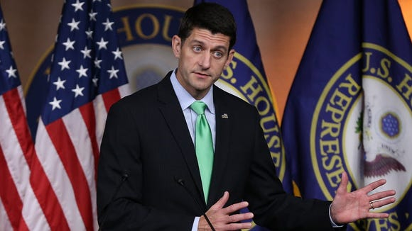 House Speaker Paul Ryan, R-Wis., answers questions