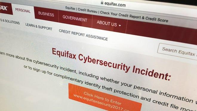Equifax website