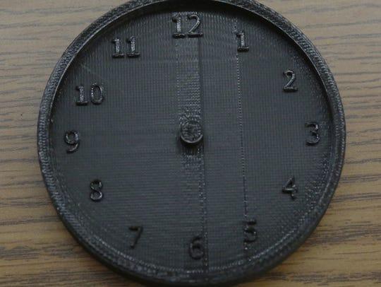 A clock face is one of many pieces that the students