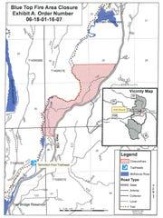 Trail closure on the McKenzie  River Trail.