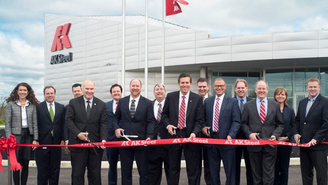 AK Steel celebrated the Grand Opening of its new $36 million Research and Innovation Center in April.