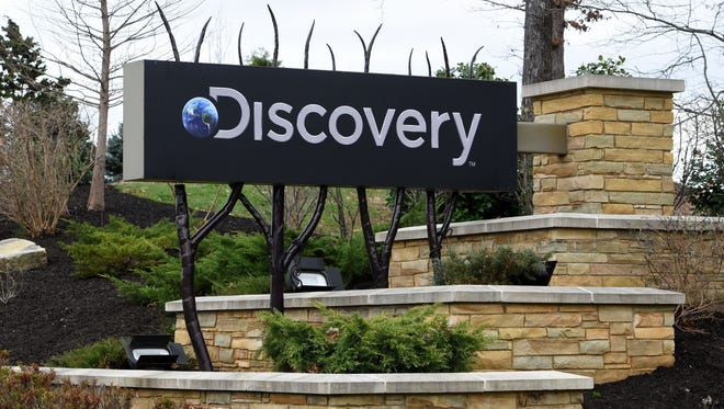 The formal takeover of Knoxville-based Scripps Networks Interactive by Discovery Communications took place Tuesday and the exterior signage is already changed  Wednesday, Mar. 7, 2018. Discovery Communications is changing its name to Discovery Inc.