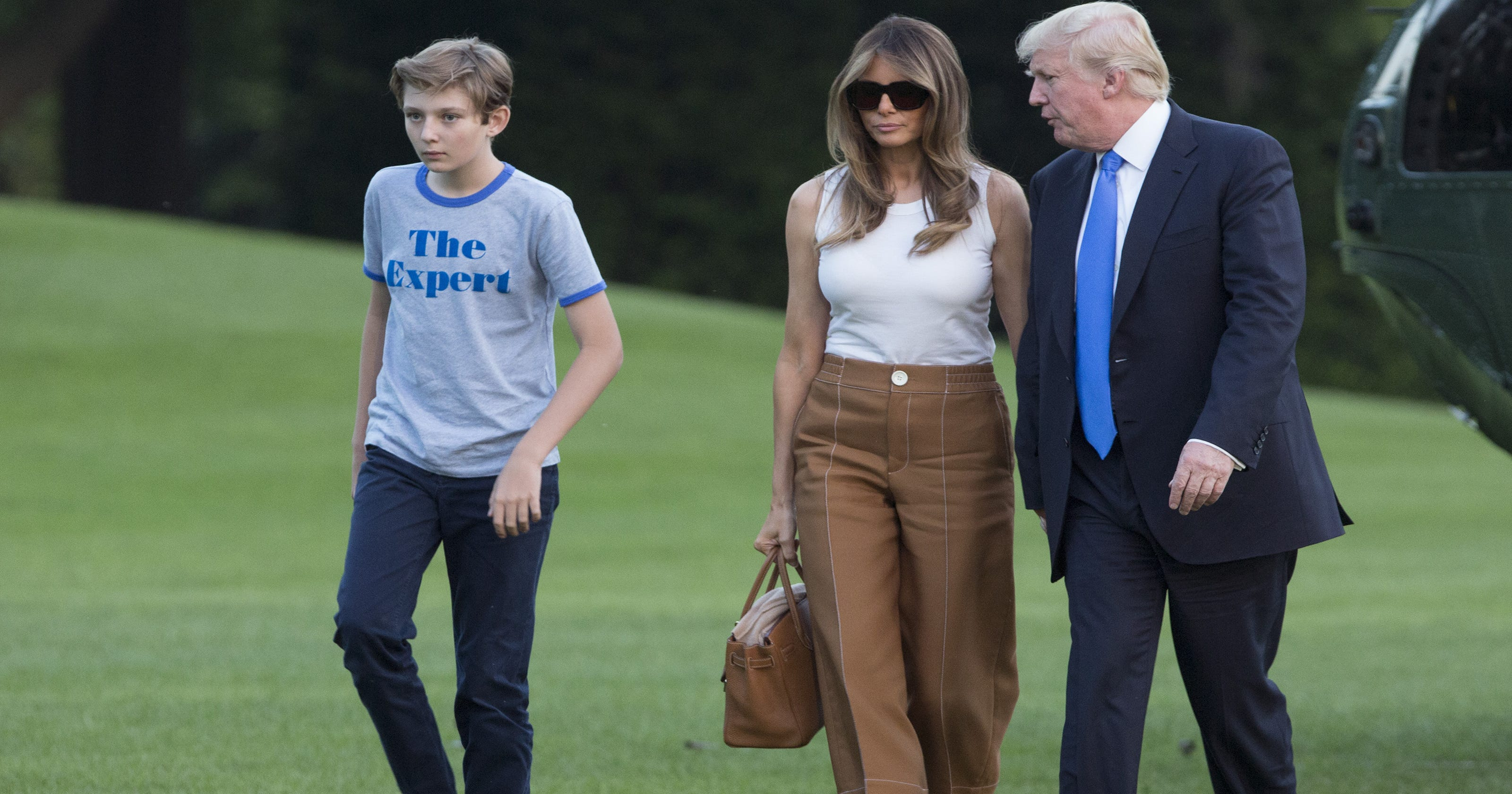 d85d9555 First lady Melania Trump, son Barron officially move into the White House