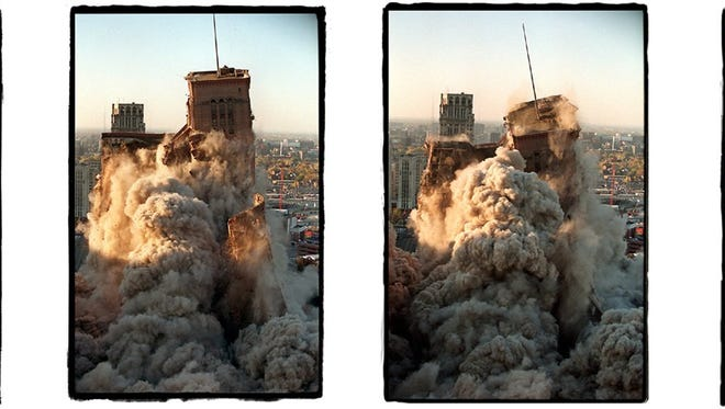 The implosion of the historic Hudson's building on Oct. 24. 1998 is the subject of a Free Press documentary short by Brian Kaufman. (Detroit Free Press/Kirthmon F. Dozier)