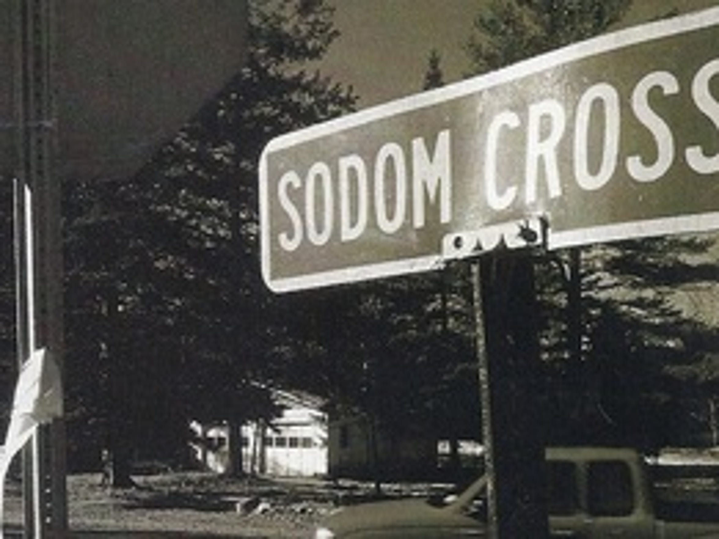 Sodom Cross Road, a remnant of the Warren County settlement