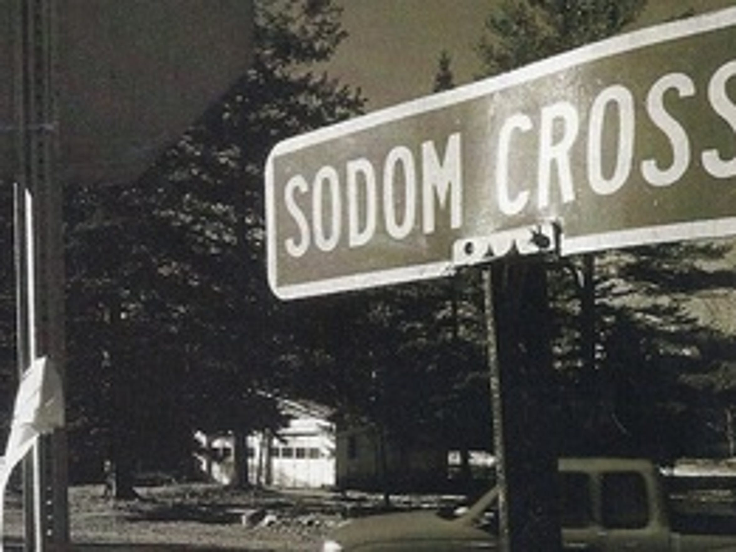 Sodom Cross Road, a remnant of the Warren County settlement once named Sodom.