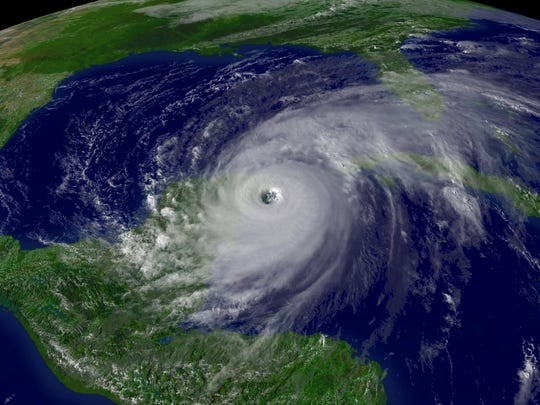 A satellite image from Oct. 21, 2005, shows Hurricane
