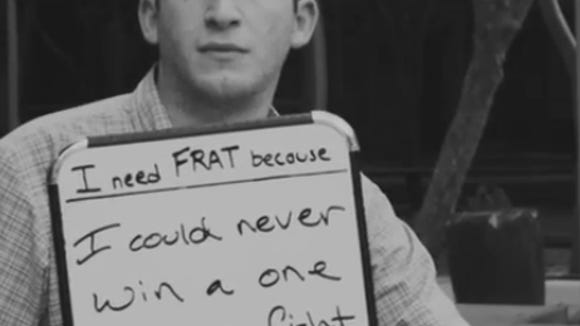 Screenshot from #WhyWeNeedFrat video (YouTube/Total Frat Move)