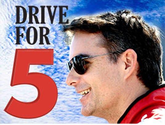jeff gordon drive for five logo