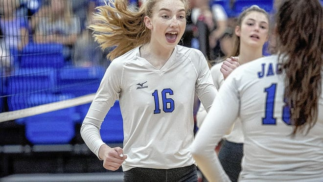 Anna Alford, a senior middle hitter, is among the top returnees for the Bradley girls volleyball team and first-year coach Abbey Arnett.