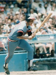 Butch Wynegar runs out a ball during his playing days with the Minnesota Twins.