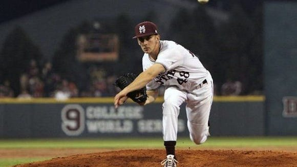 Mississippi State pitcher Ross Mitchell picked up the win and an RBI single during the Bulldogs' sweep of Saturday's doubleheader.