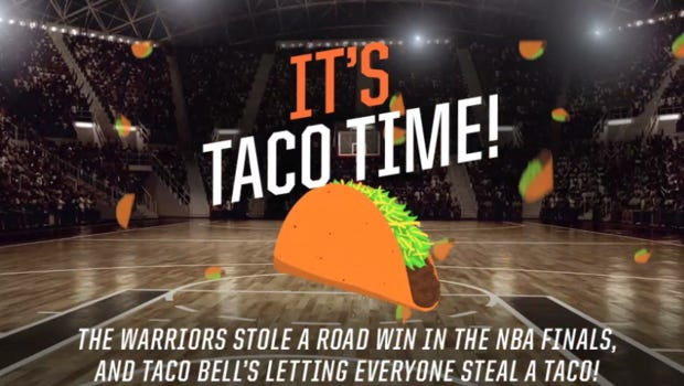 Free tacos Tuesday at Taco Bell