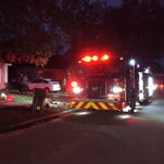 Cocoa firefighters respond to a house fire on Cambridge Drive in Cocoa