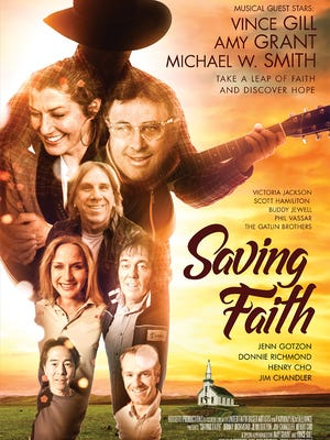 "Poster for the film ""Saving Faith."""