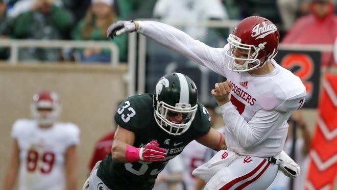 Outside linebacker Jon Reschke (33) had 75 tackles and two sacks last season as a sophomore for MSU.