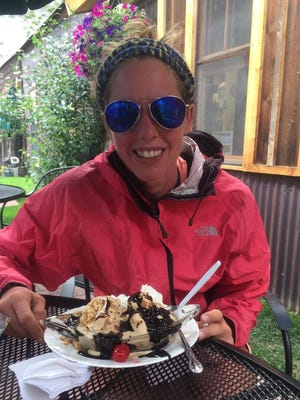 Jill Patterson began a hike on the Pacific Crest Coast trail on Monday.