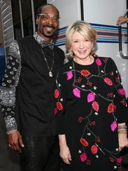 Rapper Snoop Dogg and TV personality Martha Stewart