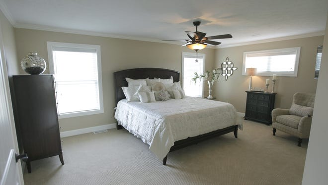 The master bedroom in the home built by Antetomaso Homes for Homearama in Penfield in 2014.