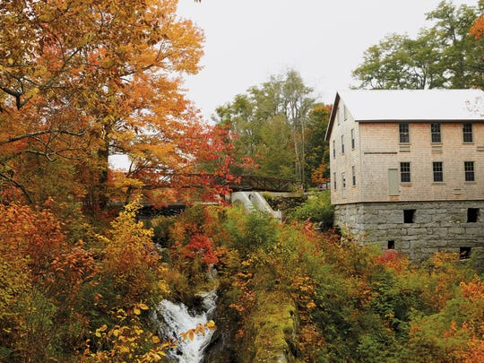 The restored 19th-Century mill in the tiny town of