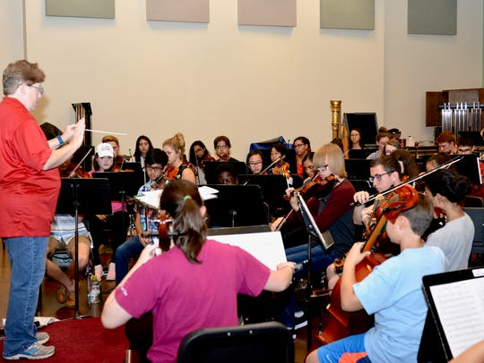 In this file photo, Dr. Susan Harvey conducts the Symphonic Orchestra in preparation for the Wichita Falls Youth Symphony Orchestra's Fall programs. Auditions will be 1 to 5 p.m. Sunday at Midwestern State University, 3410 Taft Blvd.