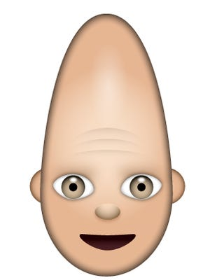 """A Coneheads emoji is one feature of a """"Saturday Night Live"""" app available for Apple and Andoid devices."""