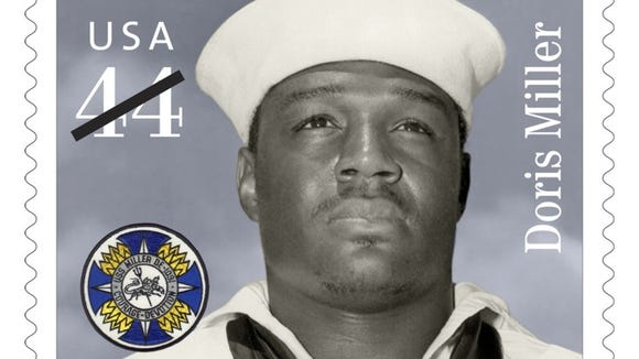 "In 2010, the U.S. Postal Service honored Doris ""Dorie"" Miller, a hero at Pearl Harbor, in a stamp."