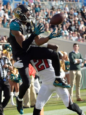 Jacksonville Jaguars wide receiver Allen Robinson, who played at Orchard Lake St. Mary's, has 13 TD receptions this season.