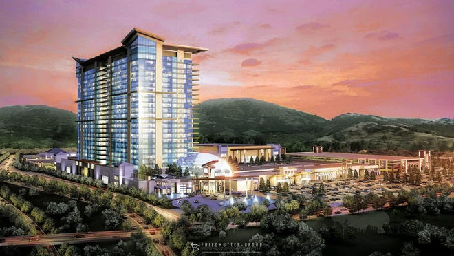 This artist's rendering shows a Catawba Indian Nation resort and casino proposed for the Kings Mountain, North Carolina, area, just a few miles north of the South Carolina line.