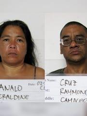 Geraldine Manalo and Raymond Cruz are shown in this combined photo.
