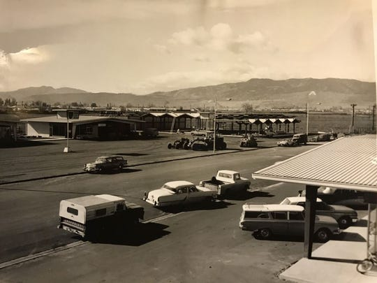 The start of Campus West is pictured in this historic