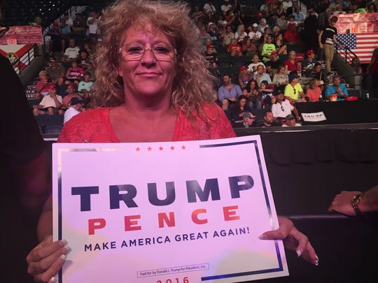 Sandi Blackwell, of Fort Myers, said she believes Donald Trump will move the country in the right direction.