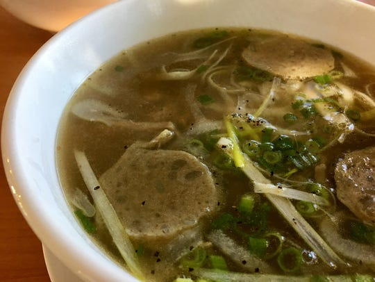 The Pho Special - check out the fatty sheen on the