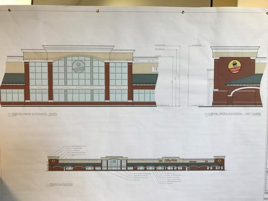 Plans for the new Saker ShopRites store in Shrewsbury.