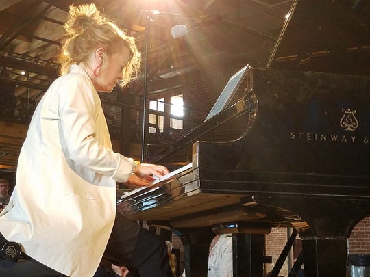 Pianist Lisa Moore performs at the Mill & Mine during the 2017 Big Ears Festival.