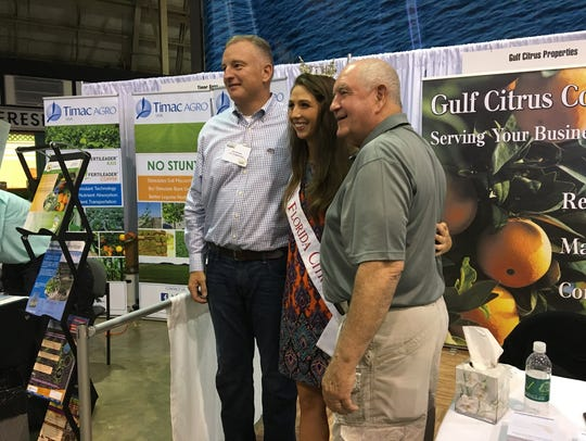 U.S. Rep. Tom Rooney, Miss Florida Citrus Rachel Smith