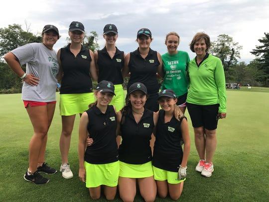 The 2017 Seton High School girls golf team includes,