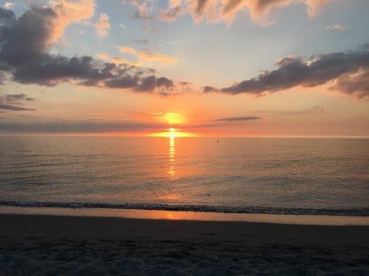 Sunset Over Venice Beach Fla